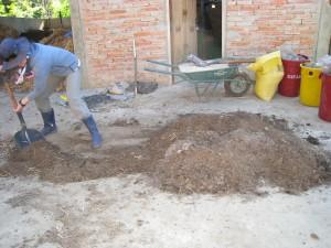 堆肥二次処理 積み込み
